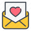 email, heart, invitation, love, mail icon