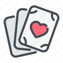 card, game, love, playing, poker icon