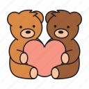 valentine's day, love, romance, bear, valentine, animal