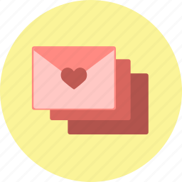 envelopes, heart, letters, mail, valentine, valentine's day, valentines icon