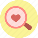 heart, love, search, seek, seeking, valentine, valentine's day icon