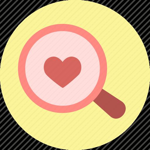 heart, love, search, seek, seeking, valentine, valentine's day icon