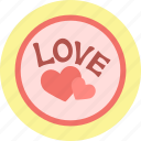 hearts, love, stamp, valentine, valentine's day, valentines icon