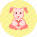 hare, heart, rabbit, toy, valentine, valentine's day, valentines icon