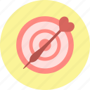 heart, javelin, spear, target, valentine, valentine's day, valentines icon