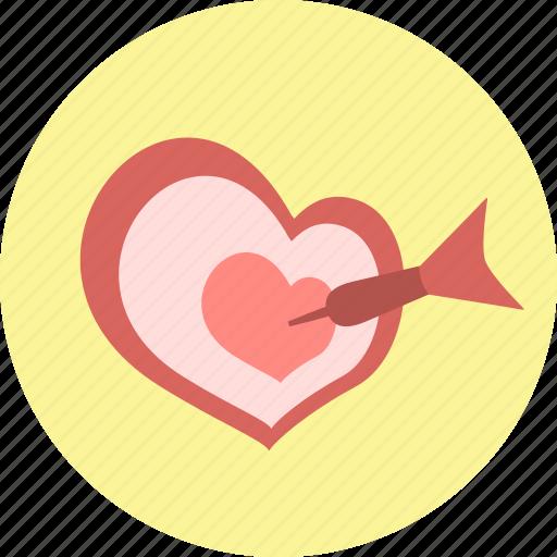 heart, javelin, spear, target, valentine, valentine's day, valentines icon