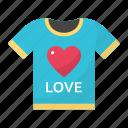 couple, shirt, fashion, clothing, love, valentines, heart icon