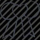 love, lovely, ribbon, valentine, valentine's day icon