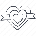 heart, love, lovely, ribbon, valentine, valentine's day icon