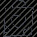 bag, love, lovely, shopping bag, valentine, valentine's day icon