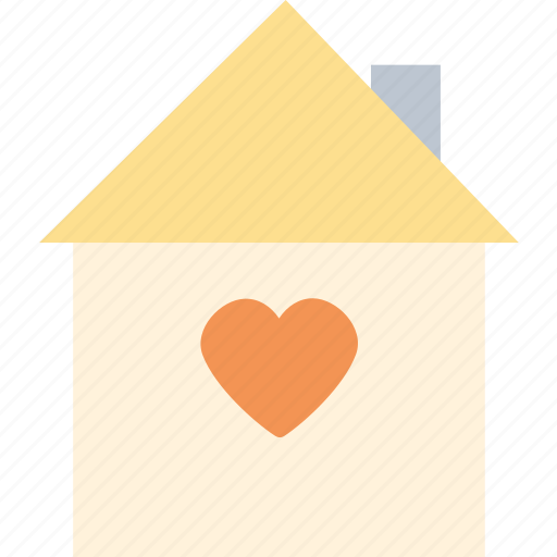 heart, house, love, romantic, valentine's day, valentines icon