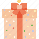 gift, heart, love, present, romantic, valentine's day, valentines icon