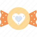 candy, heart, love, romantic, valentine's day, valentines icon