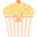 capcake, heart, love, valentine's day, valentines icon