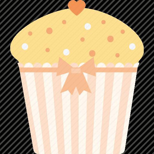 capcake, heart, love, valentine's day, valentines icon