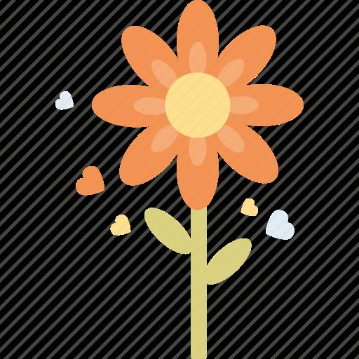 flower, heart, love, valentine's day, valentines icon