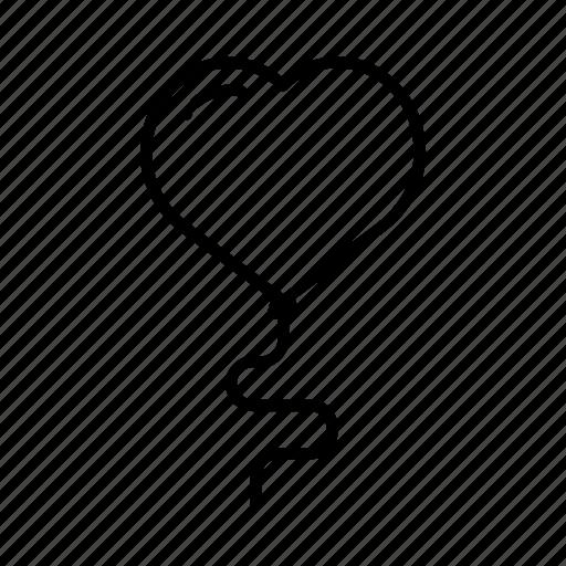 balloon, heart, heartshaped, romantic, valentines day icon