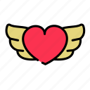 angel, love, lovers, tattoo, valentine's icon