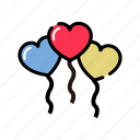 balloon, happy, love, lovers, valentine's icon