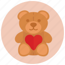bear, gift, love, present, teddy, valentine, valentine's day icon
