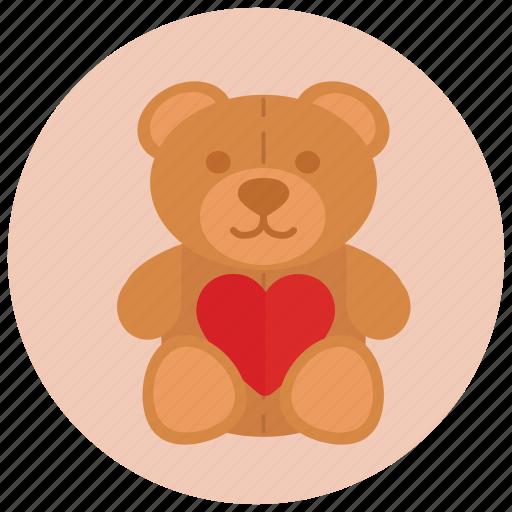 bear, gift, love, present, teddy, valentine, valentine's day icon