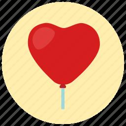 ballon, heart, valentine icon