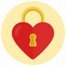 heart, lock, locked, love, valentine's day icon