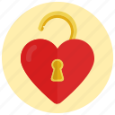heart, valentine, love, unlocked