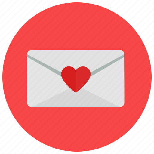 letter, love, valentine, valentine's day icon