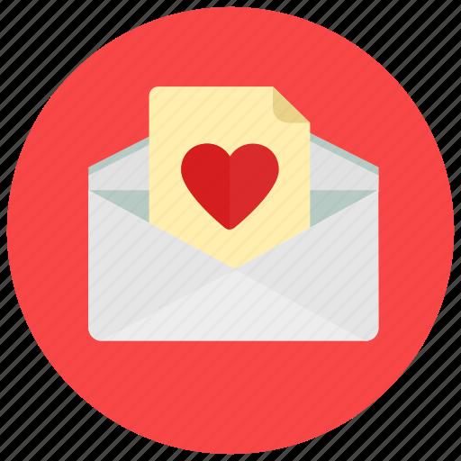 letter, love, valentine, valentine's day icon
