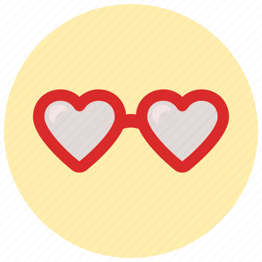 glasses, looking, love icon