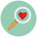 find, love, valentine icon