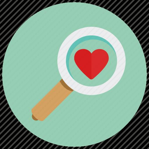 find, love, valentine icon