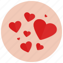 hearts, love, romance, romantic, valentine, valentine's day icon