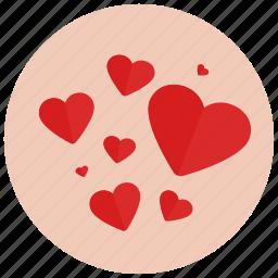 hearts, love, romance, romantic, valentine, valentine's day icon
