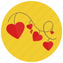 celebration, decorations, heart, ornament, valentine icon