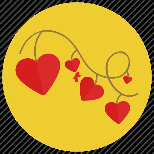 celebration, decorations, heart, ornament, valentine icon