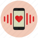 call, mobile, valentine icon