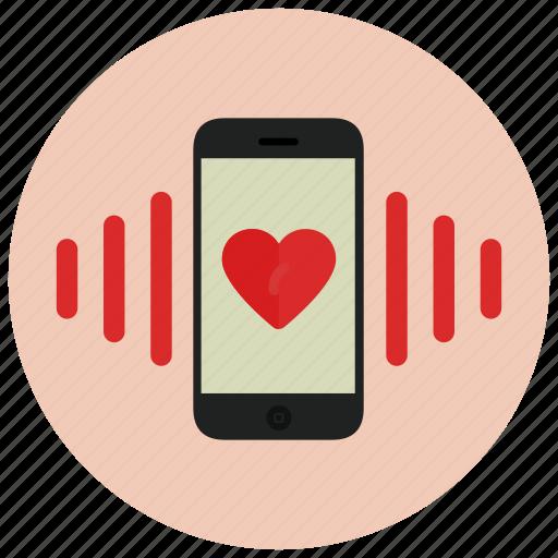 call, mobile, valentine icon