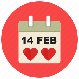 calendar, date, day, event, valentine icon