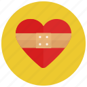 healing heart, love, valentine icon