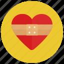 healing heart, heart, love, valentine icon