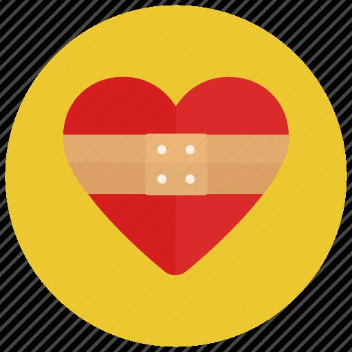 healing heart, love, valentine icon