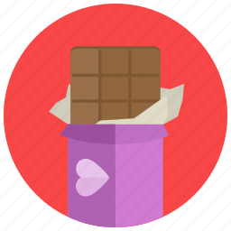 chocolate, romantic, valentine icon