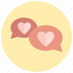love, messaging, sms, valentine icon