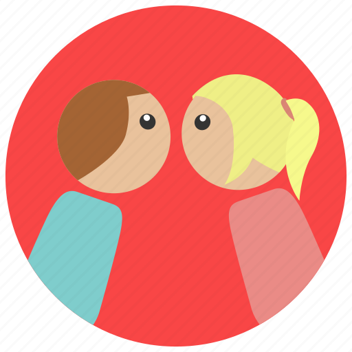 kissing, lovers, romance, romantic, valentine, valentine's day icon