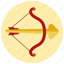 arrow, cupid, day, love, valentine icon