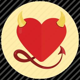 devil, heart, sexy, valentine icon