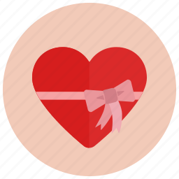 gift, heart, romance, valentine icon