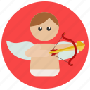 cupid, love, valentine icon